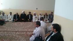 حضور مسئولین در مجلس ترحیم خواهربارانی درازهی یکی از اعضای شورای شهرستان سراوان